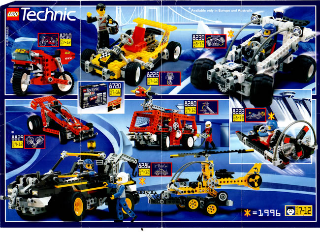 1996 Sheet Lego Catalogue Technic Printed Lego Catalogues