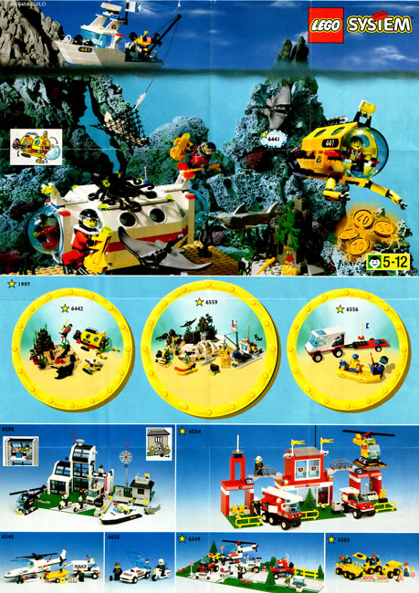 1997 Sheet Lego Catalogue Printed Lego Catalogues